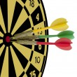 Three darts hitting a target — Stock Photo #8616117