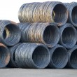 Shiny Cable Wire Rolls — Stock Photo