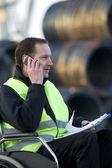 Challenged Supervisor On Call — Stock Photo