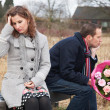 Couple Struggling With Relationship - Foto de Stock