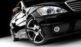 Siyah araba — Stok fotoğraf