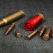 3D Model of 8 Bullets in high quality — ストック写真