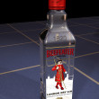 3D Model Beefeater Gin Bottle - Stock Photo
