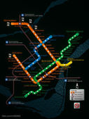 Montreal Metro 3D Map - Refresh own design — 图库照片
