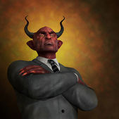 The Arrogance of Evil — Stock Photo