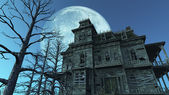 Haunted House - Full Moon — Stok fotoğraf