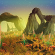 Alien Landscape — Stock Photo