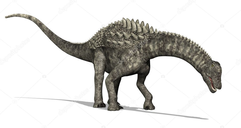 An Ampelosaurus dinosaur is browsing - 3D render. — Stock Photo #8216974