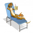 Gecko Relaxing — Stock Photo