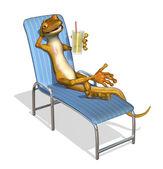 Gecko relajante — Foto de Stock