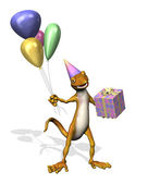 Gecko de cumpleaños — Foto de Stock