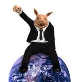 Nadnárodní korporace vládnou světu — Stock fotografie
