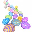 Cascade of Colorful Easter Eggs - Stockfoto