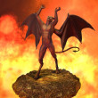 The Devil Rages in Hell - Stock Photo
