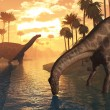 Dinosaurs - The Dawn of Time — Stock Photo