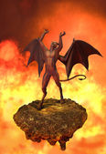The Devil Rages in Hell — Foto de Stock