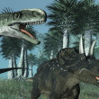 Prehistoric Scene with Dinosaurs — Stock Photo