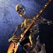 Heavy Metal Skeleton — Stock Photo