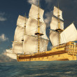 Tall Ship at Sea 2 - Lizenzfreies Foto