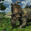 Prehistoric Scene with Albertaceratops — Stock Photo