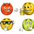 Big 3D emoticons - Stock Photo