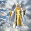 Stock Photo: Angel in Sky