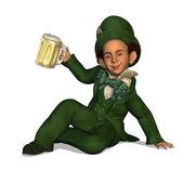 Leprechaun with Beer — Stock Photo