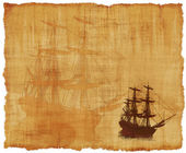 Tall Ship Parchment — Stock Photo