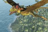 Peteinosaurus Soaring above the Sea — Stock Photo