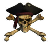 Grunge Pirate Skull — Stock Photo