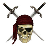Pirate Skull with Daggers — Stock Photo