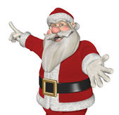 Santa Invites You to Take a Look! — Stock Photo