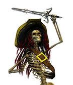 Fighting Skeleton Pirate — Stock Photo