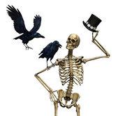 Mr Skeleton with Ravens — Stock Photo