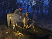 Graveyard Celebration — Stock Photo