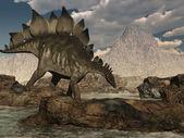 Stegosaurus Roaming — Stock Photo