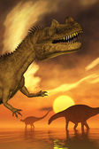 Dinosaur Sunset — Stock Photo