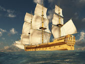 Tall Ship at Sea 2 — Stock Photo