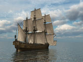 Tall Ship at Sea — Stock Photo