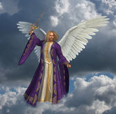 Archangel Micheal with Sky - 2 — Stock Photo