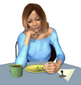 Anorexia - A Tiny Meal — Stock Photo
