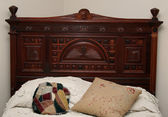 Antique Headboard — Stock Photo
