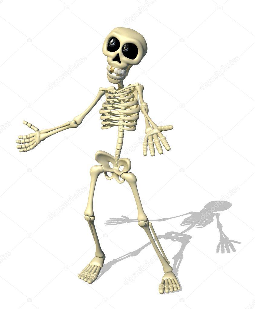 Как сделать маленького скелета