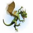 Baby Dragon Learning to Fly — Stock Photo #8295213