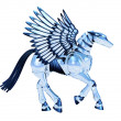 Stock Photo: Chrome Pegasus