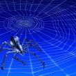 Web Crawling CyberSpider — Stock Photo