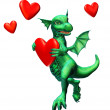 Royalty-Free Stock Photo: Lovesick Dragon