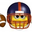 Football Emoticon — Stock Photo #8295653