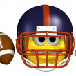 Football Emoticon — Stock Photo