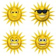 Four Emotisuns — Stock Photo